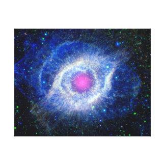 Helix Nebula Ultraviolet Eye of God Space Photo Canvas Print