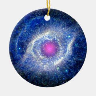 Helix Nebula Ultraviolet Double-Sided Ceramic Round Christmas Ornament