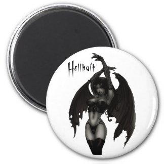 Hell Bait 2 Inch Round Magnet