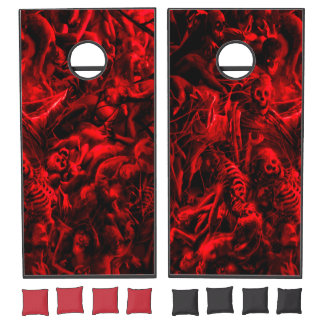 Hell Bent Custom Black Cornhole Set