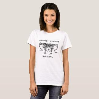 Hell-bent feminist she-devil T-shirt