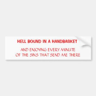 Hell Car Bumper Sticker