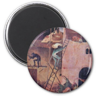 Hell.,  By Hieronymus Bosch (Best Quality) Magnets