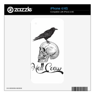 Hell Crow Halloween Skin For iPhone 4S