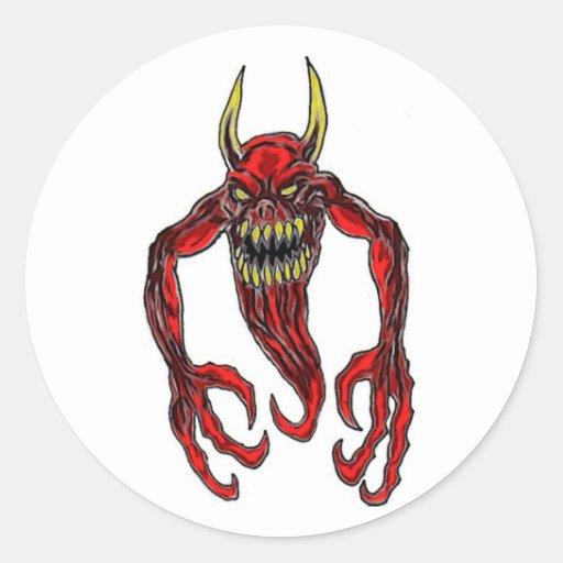 Hell Demon Art Sticker