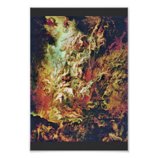 Hell Fall Of The Damned By Rubens Peter Paul Poster