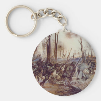 Hell Fighters from Harlem by H. Charles McBarron Basic Round Button Keychain