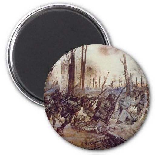 Hell Fighters from Harlem by H Charles McBarron Jr 2 Inch Round Magnet