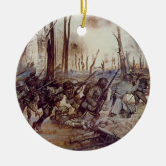 Hell Fighters from Harlem by H Charles McBarron Jr Ceramic Ornament