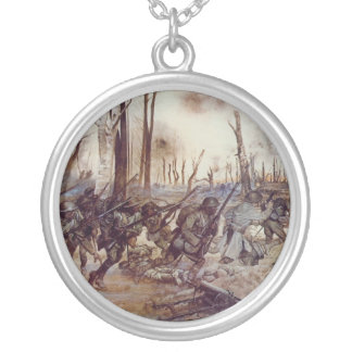 Hell Fighters from Harlem by H Charles McBarron Jr Silver Plated Necklace