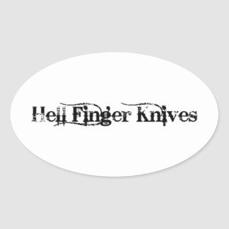 Hell Finger Knives Stickers