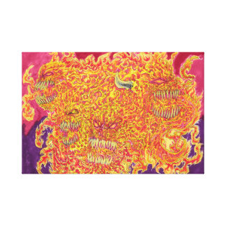 Hell Fire Demon Stretched Canvas Prints
