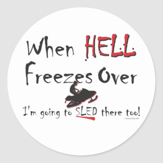 HELL-FREEZES-on-ash-[Conver Classic Round Sticker