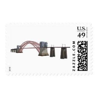 Hell Gate Bridge: 3D Model: Postage Stamp