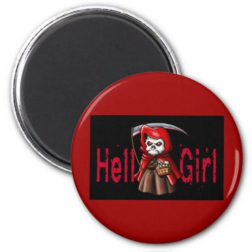 Hell Girl 2 Inch Round Magnet
