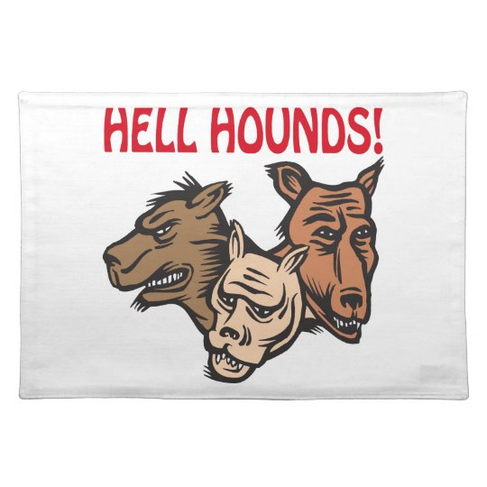 Hell Hounds Cloth Placemat