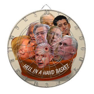 Hell in a Handbasket Personalized Dartboard With Darts