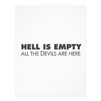 Hell is Empty Customized Letterhead