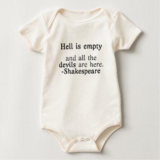 Hell is Empty Shakespeare quote Baby Bodysuit