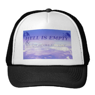 """Hell is Empty"" V.2 Pastel Quote Design Trucker Hat"