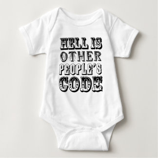 Hell is other people's code baby bodysuit