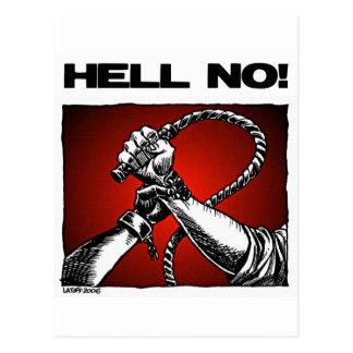 Hell No! Anti Slavery Discrimination Art Postcard