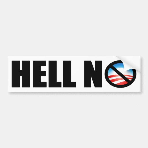 Hell No! Car Bumper Sticker