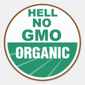 Hell No GMO Orgainc Classic Round Sticker