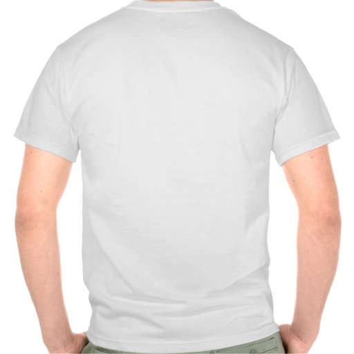 Hell no gmo stencil font front and back custom tee for Custom photo t shirts front and back