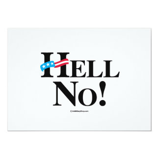 Hell No Hillary - black Personalized Invitation Card