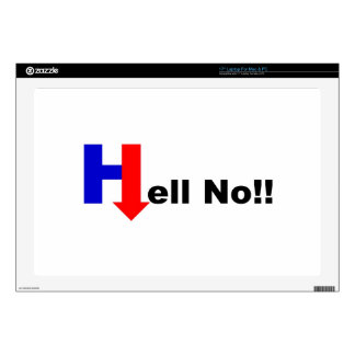 """Hell No Hillary Decal For 17"""" Laptop"""