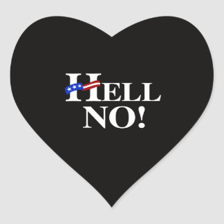 Hell No Hillary - white -.png Heart Sticker