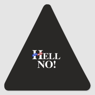 Hell No Hillary - white -.png Triangle Sticker