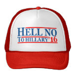 Hell No To Hillary '16 Trucker Hat