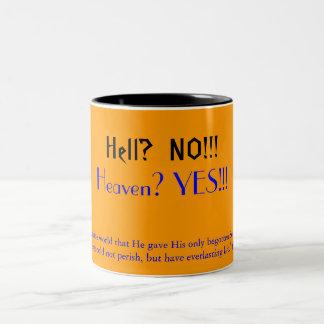 Hell?  NO!!!, Two-Tone Coffee Mug