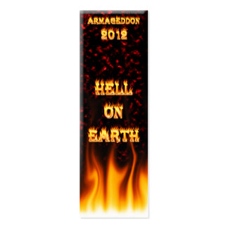 Hell on earth fire and flames. Double-Sided mini business cards (Pack of 20)