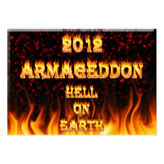 Hell on earth fire and flames. large business cards (Pack of 100)