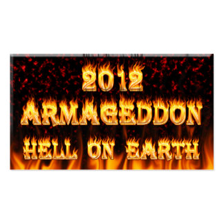 Hell on earth fire and flames. Double-Sided standard business cards (Pack of 100)