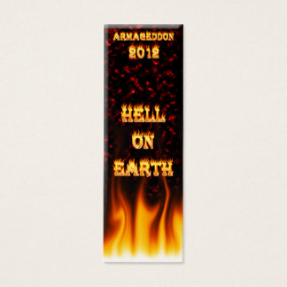 Hell on earth fire and flames. mini business card