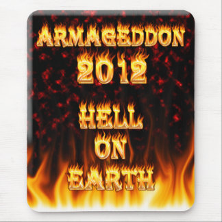 Hell on earth fire and flames. mouse pad
