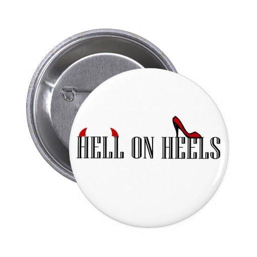 Hell On Heels 2 Inch Round Button