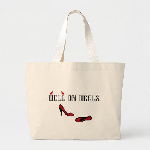 Hell On Heels Canvas Bag