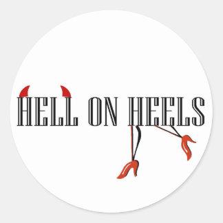 Hell On Heels (Legs/Horns) Classic Round Sticker