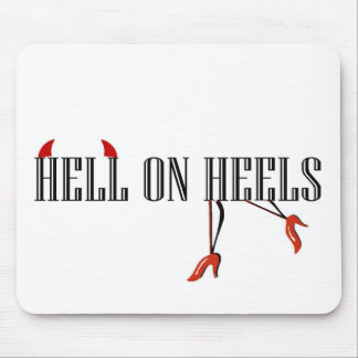 Hell On Heels (Legs/Horns) Mouse Pad