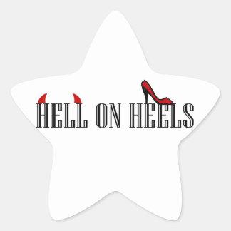 Hell On Heels Star Sticker