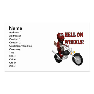 Hell On Wheels Double-Sided Standard Business Cards (Pack Of 100)