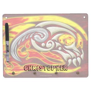 Hell On Wheels Dry Erase Key Holder Dry Erase Board With Keychain Holder