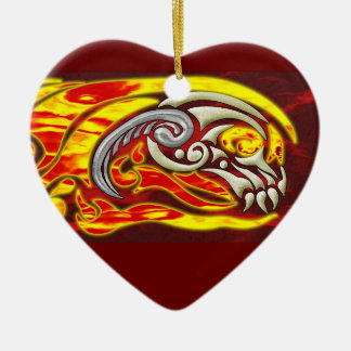Hell On Wheels Heart Ornament