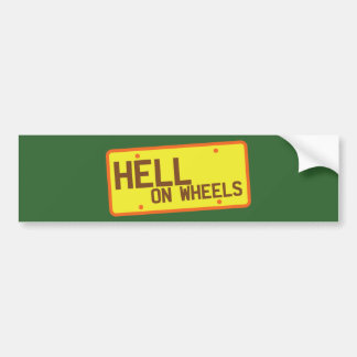 Hell on Wheels licence plate products Car Bumper Sticker