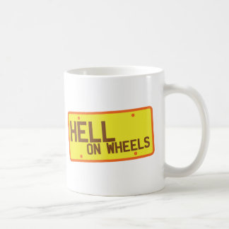Hell on Wheels licence plate products Classic White Coffee Mug